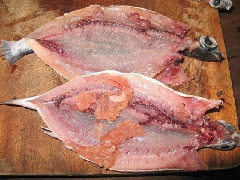 gỏi trứng cá chuồn đà nẵng
